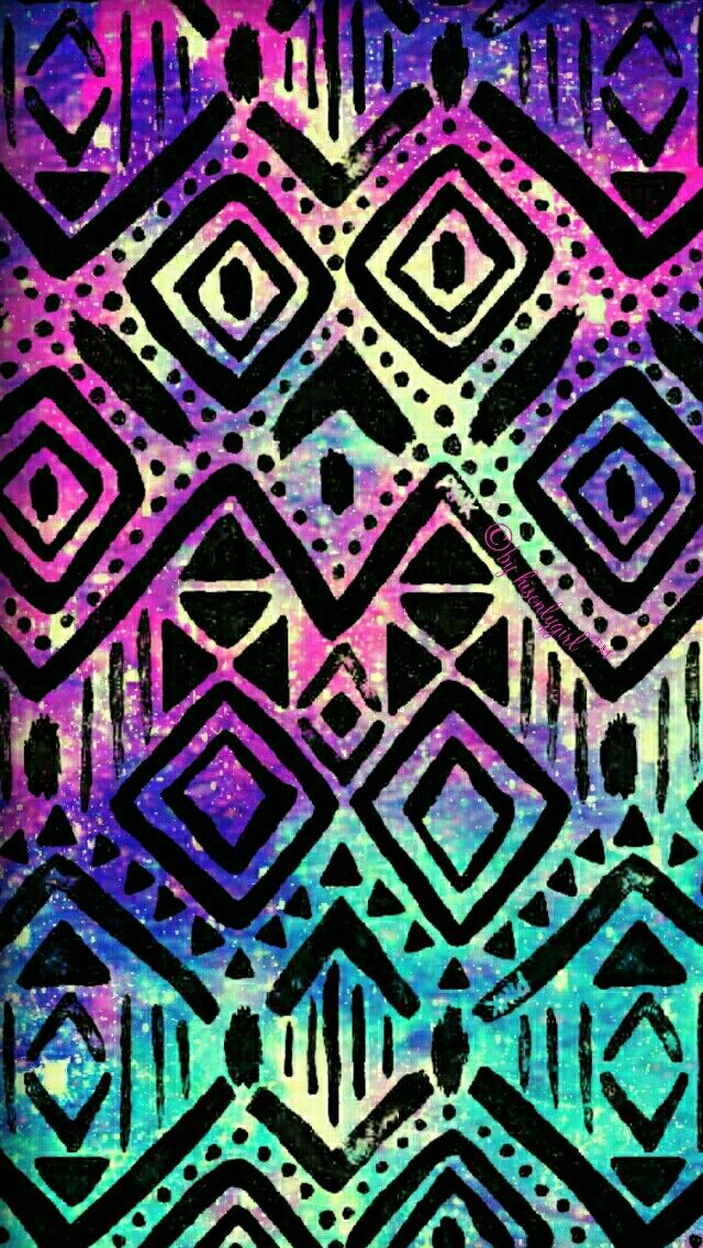 Tribal galaxy iPhone & Android wallpaper I created for the app CocoPPa.