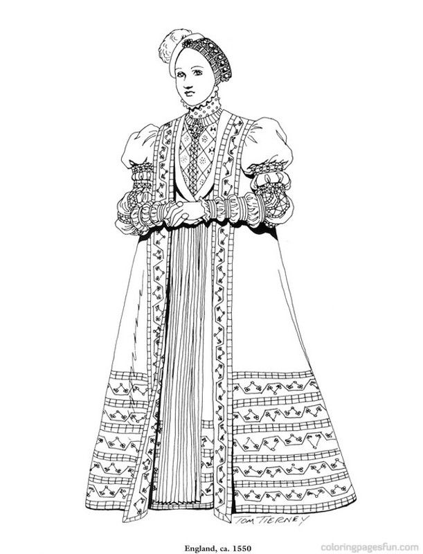 Coloring pages for the renaissance
