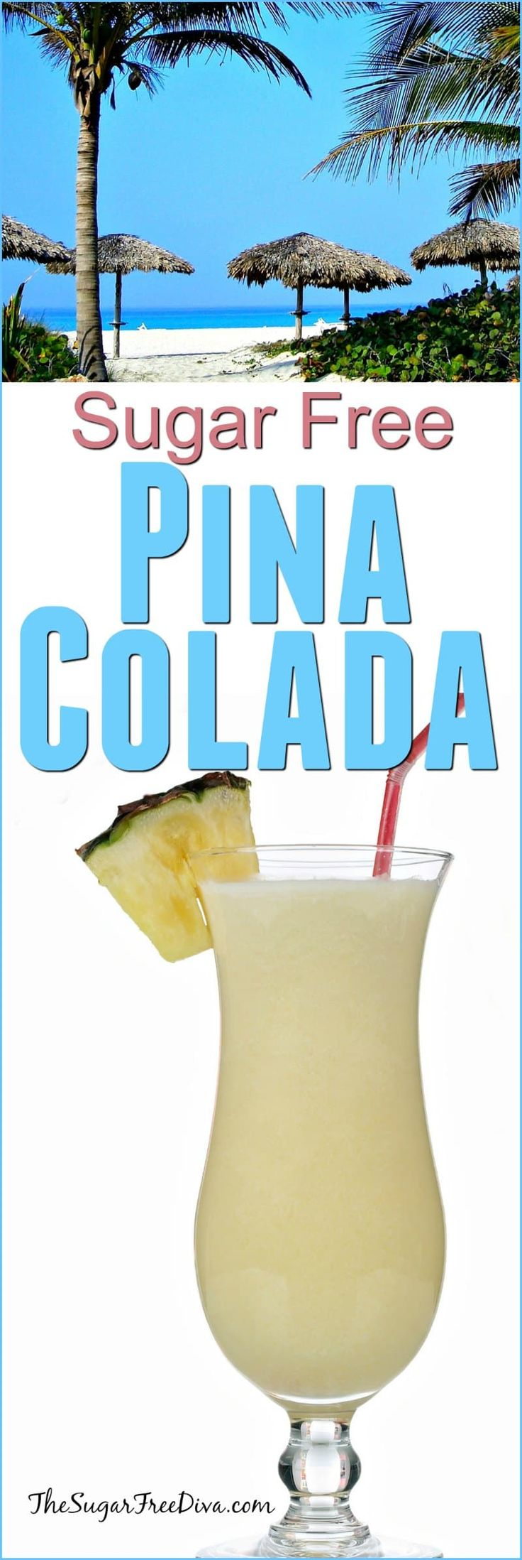 How to Make a Sugar Free Pina Colada- with or without the alcohol..this is still really yummy!