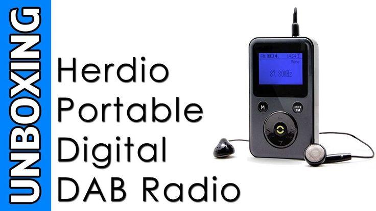 Herdio Portable Digital DAB Radio Unboxing
