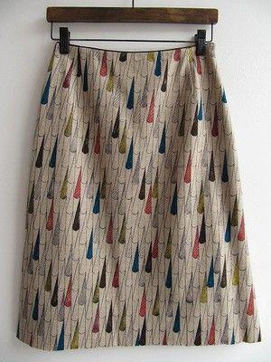sunny rain スカート/買取実績/ミナペルホネン古着買取専門店ドロップ: mina perhonen skirt. The design of these textiles is killing me. I love them.