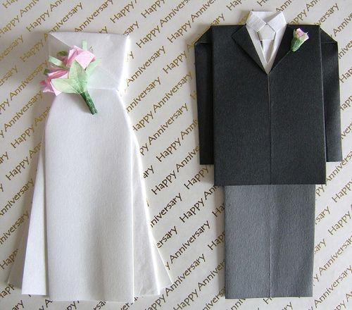 すべての折り紙 折り紙 結婚式 : How to Make Origami Wedding Dress