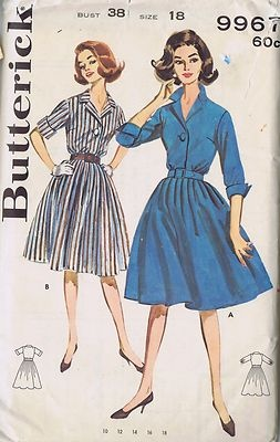 butterick sewing pattern vintage