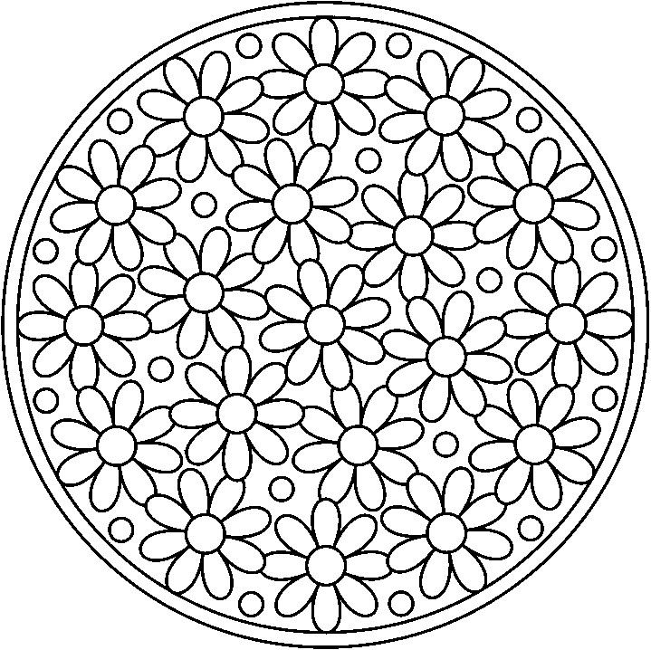 kleurplaat Mandala bloem - Google zoeken