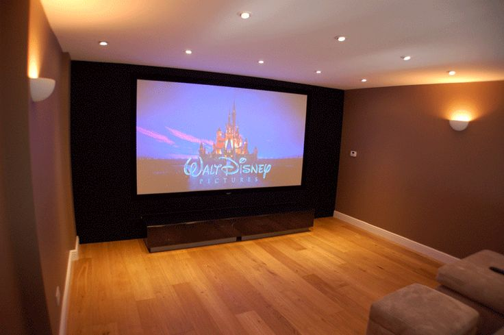 49 best images about tv room on pinterest theater rooms for Small tv projector