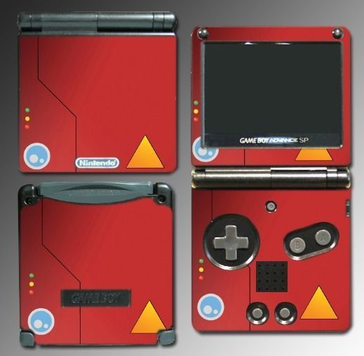 Pokedex Trainer Professor Oak Pikachu Game Decal Skin Cover Nintendo GBA SP #UnbrandedGeneric