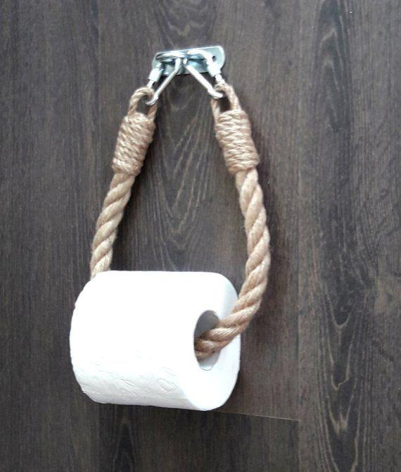Industriellen Toilettenpapierhalter… Jute-seil-Dekor… für Badezimmer… Handtuchhalter… WC-Papierhalter