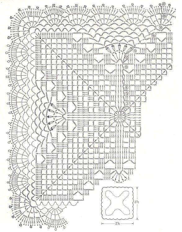 napperon carré 9.