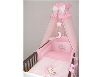 Sänghimmel spjälsäng eller vagga i rosa