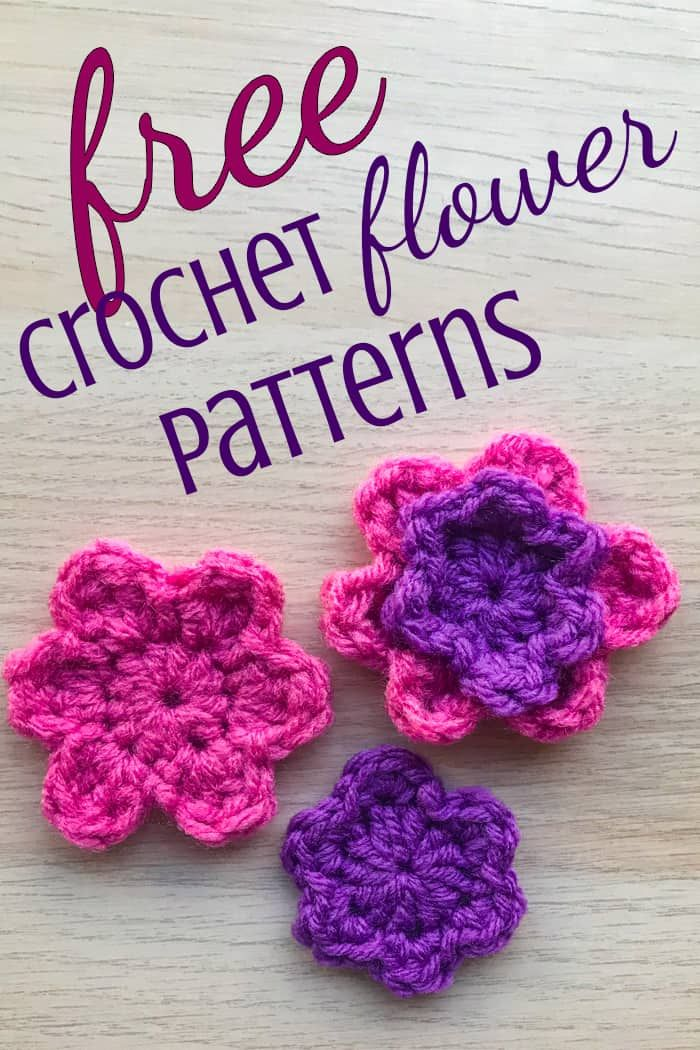 Simple Crochet Flower Patterns Crochet Flowers Free Pattern
