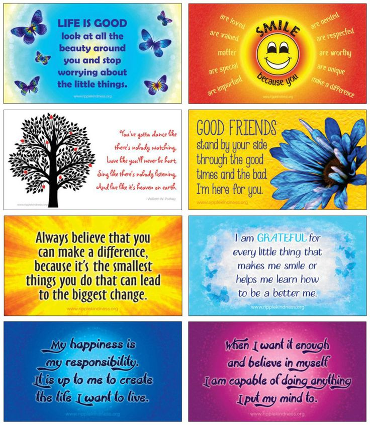 Fridge Magnets - Pack of 8 Positive Outlook Quotes - pinned by pin4etsy.com