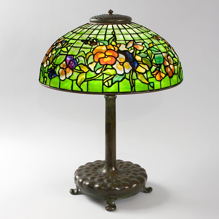 48 best tiffany lamps images on pinterest tiffany lamps antique pansy tiffany lamp a tiffany studios new york glass and bronze pansy table lamp shade featuring multi colored pansy blossoms on a mottled green and aloadofball Gallery