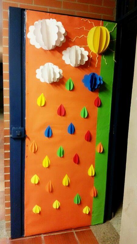 17 mejores ideas sobre decoraciones de puertas de oto o en - Decoracion para puertas ...