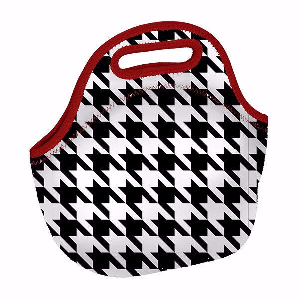Hand it to houndstooth - Neoprene Lunch Bag