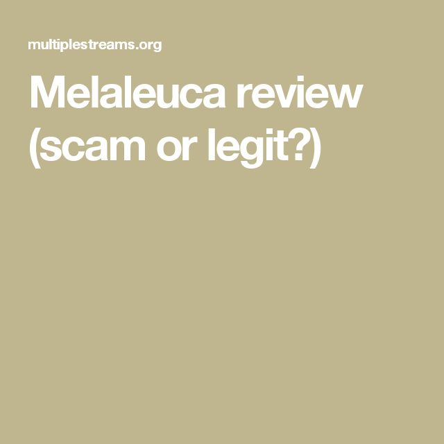 Melaleuca review (scam or legit?)