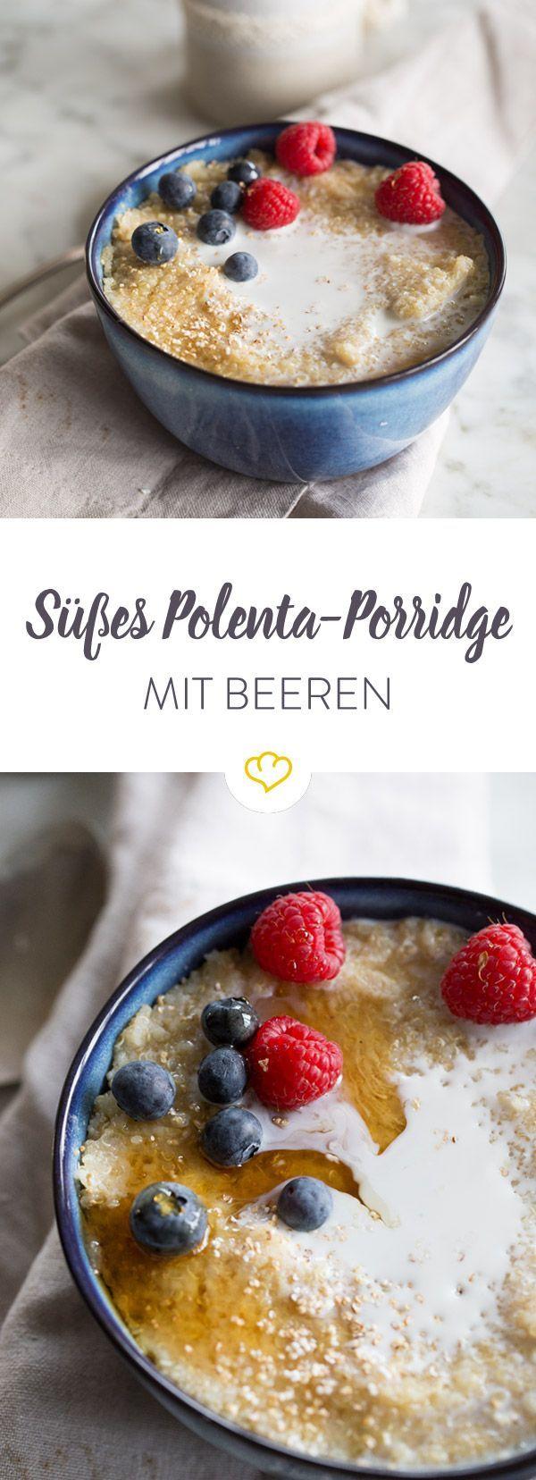 Süßes Polenta-Porridge mit Beeren – Petra Fuchs