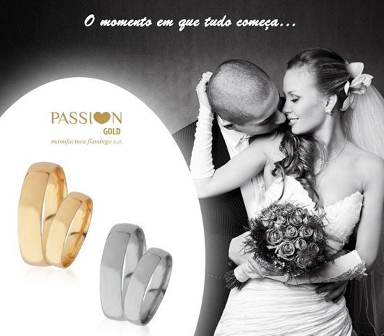 O momento em que tudo começa...  Alianças de Casamento PASSI♥N GOLD
