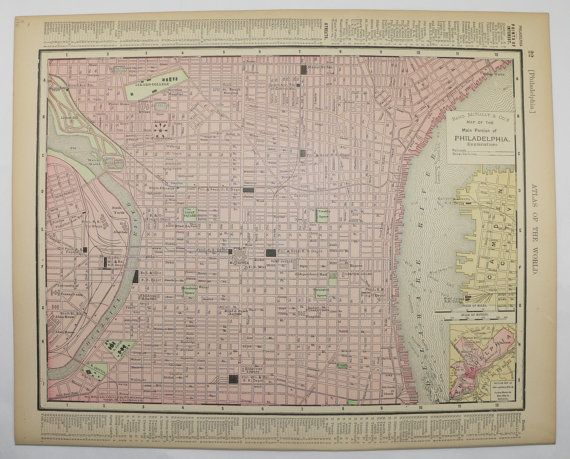 Oltre Migliori Idee Su Philadelphia Map Su Pinterest - Philadelphia capital of us origanal map