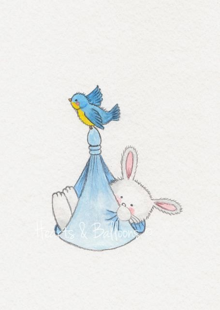 Childrens art watercolour painting PRINT 5 x by heartsandballoons, $9.00