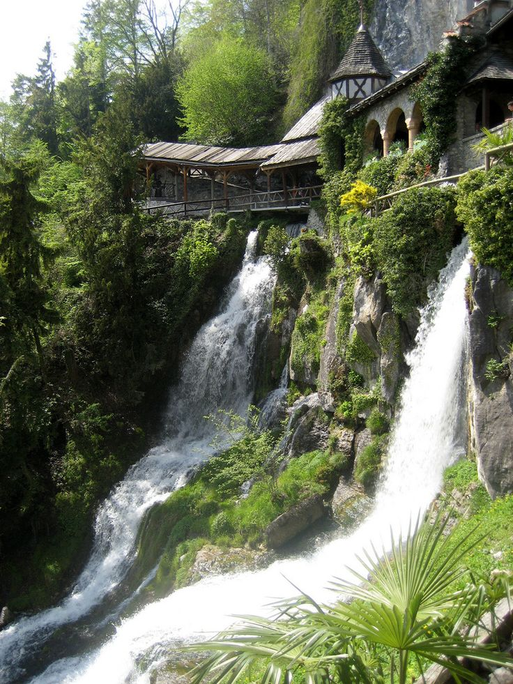 Waterfall Walkway, St. Beatus Caves, Switzerland  | St. Beatus : St. Beatushöhlen, Interlaken, Switzerland « Travel for ...