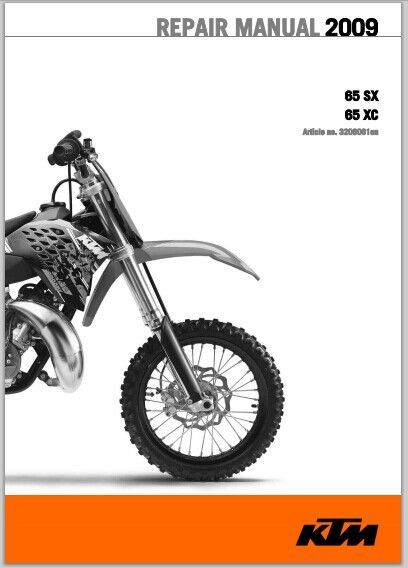 2009 KTM 85 SX, 85 XC Workshop Service Repair Manual Download    This is the Most Practical Service Repair Manual for the 2009 KTM 85 SX, 85 XC Workshop Service Repair Manual Download ever compiled by mankind. This DOWNLOAD contains of high quality diagrams and instructions on how to service and rep