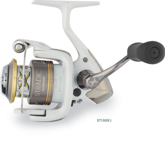 Shimano Stradic FJ Spinning Reels    Shimano Stradic FJ Spinning Reels have the same classic look but more power than their predecessor. Shimano's X-Ship gives Stradic FJ increased gearing efficiency and power, providing for ultra-light handle rotation and a smooth, effortless retrieve.