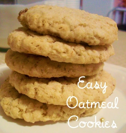 Easy Oatmeal Cookies - baking in my oven now :)