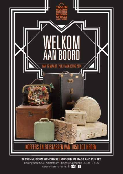 In the exhibition Welcome Aboard, the Tassenmuseum shows the history of travel and the development of suitcases and travel bags from 1850 to the present.