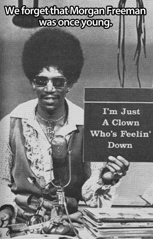Morgan Freeman was once young…