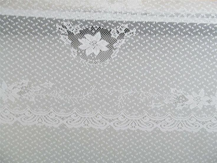 Curtains Ideas christmas curtain fabric : Christmas WHITE LACE POINSETTIA Shower Curtain Fabric Holly Leaves ...