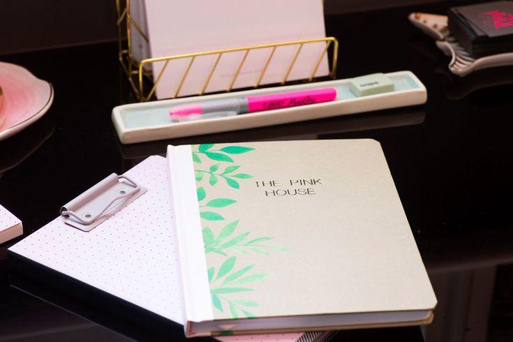 Pretty styled pink desk