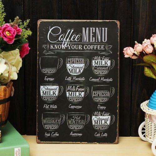 Coffee-Menu-Vintage-Tin-Sign-Bar-Pub-Shop-Home-Wall-Decor-Retro-Metal-Art-Poster $4.99 from ebay