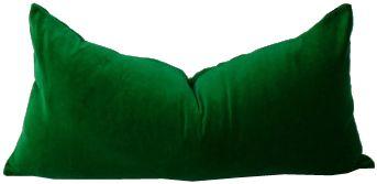Emerald Green velvet pillow case 12x20 - See more at: https://www.decorist.com/finds/141263/emerald-green-velvet-pillow-case-12x20/