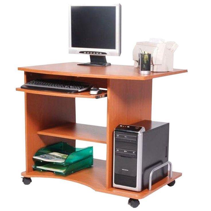 Justmoment SCRIVANIA SMART PORTA PC UFFICIO COLORE CILIEGIO 90X55X76 CM - Casa & Giardino