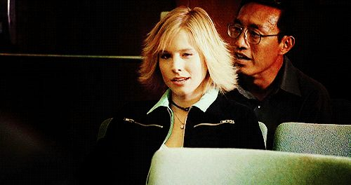 """Kristen Bell as Veronica Mars and Kristen Bell 