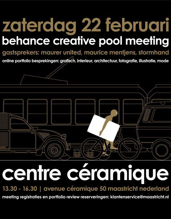 boy bastiaens   behance creative pool meeting   poster