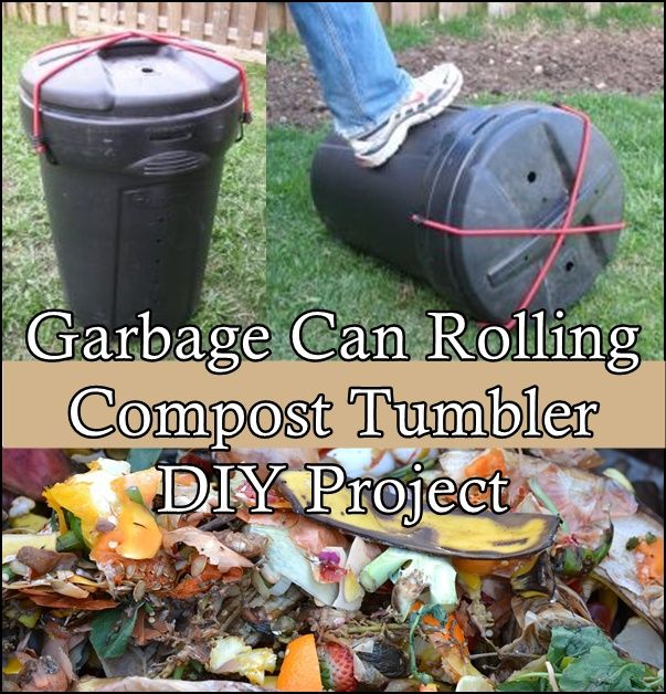 Garbage Can Rolling Compost Tumbler DIY Project Homesteading  - The Homestead Survival .Com