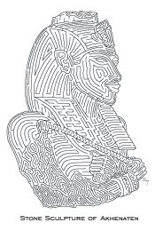 Maze puzzle of Pharaoh Akhenaten (father of Tutankhamun)