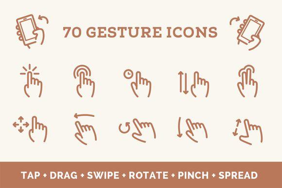 FREE this week as part of a special  bundle - https://creativemarket.com/offer/webflow?u=teevio - Gesture Icon Set by Web Icon Set on @creativemarket
