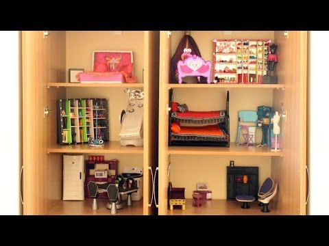 Tour de mi nueva casa de Muñecas Monster High, Barbie y American Girl 2015 + Camas para Muñecas - YouTube