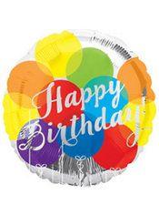 Rainbow Balloons Happy Birthday Balloon  Party City
