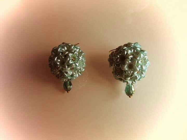 bridesmaid druhna brautjungfer spearmint mięta spearminze minze mint blossoms kwiaty blüten crystals kryształy kristalle earrings kolczyki ohrringe