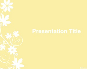 Free Flower Template for PowerPoint is a style and free design for PowerPoint presentations with a flower background that can be used for any general purpose presentation but also for garden presentations in PowerPoint as well as other florist template for PowerPoint presentations