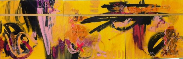 """Spring"" by Bianka Guna 2012 Series Acrylic on Wood Panels (Triptych) 12""x36"" SOLD"
