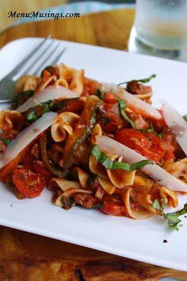 Italian style drunken noodles primavera. Step-by-step photo recipe ...