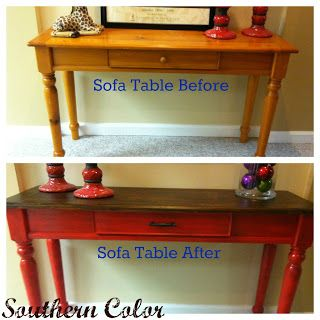 Southern Color: Sofa Table Makeover