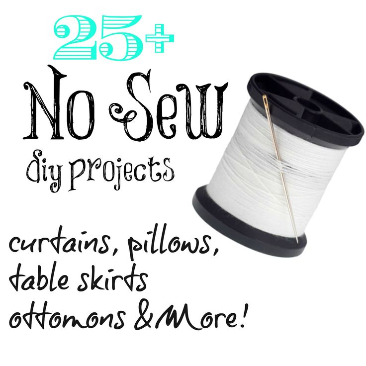 no sew projects, pillows, curtains table skirts and more! ALL NO sew whoot! A hot glue gun is my friend.