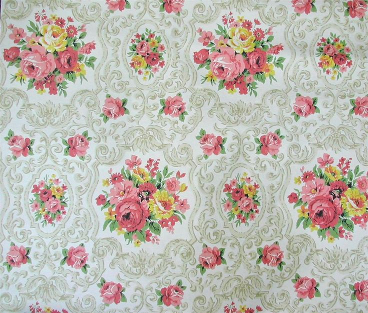 vintage floral wallpaper pattern texture pinterest
