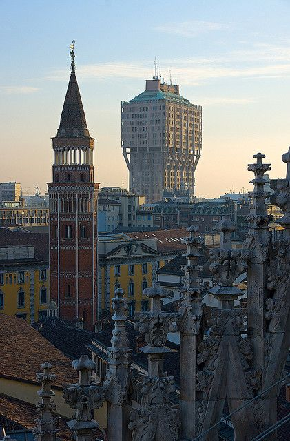 Torre Velasca from the Duomo, Milan #Expo2015 #Milan #WorldsFair