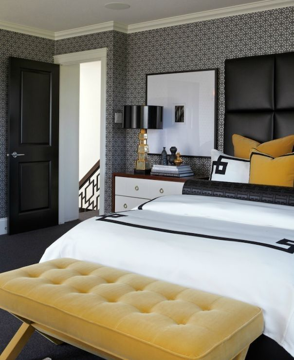 Yellow Bedroom Decorating Ideas Beautiful 23 Best Color Bo Black Gold Images On Pinterest Of Ye Hotel Style Design Contemporary